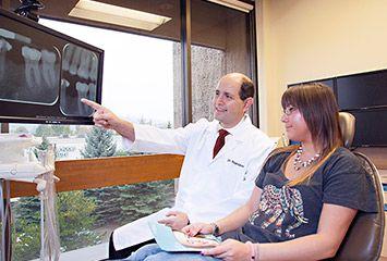 Dr. Rapoport with patient