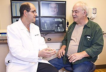 Dr. Rapoport with patient